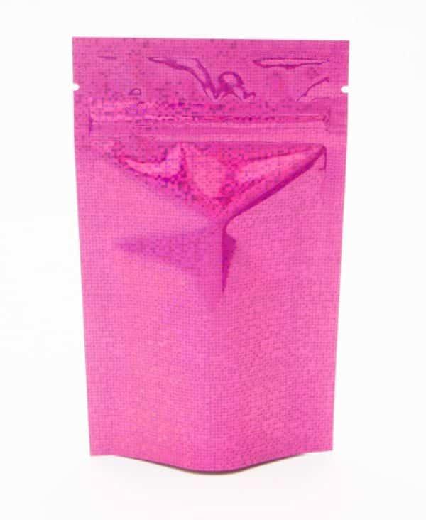 pink holographic sparkle bag