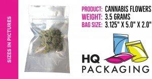 3.5 grams cannabis in 3x5 bag