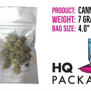 The Quarter Bag- clear/silver stand-up pouch w/ aluminum foil