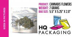 """7 grams in 5.5"""" x 5.25"""" bag"""